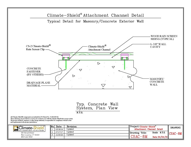 CSAC-8M Attachment Channel over Masonry 11-09-20