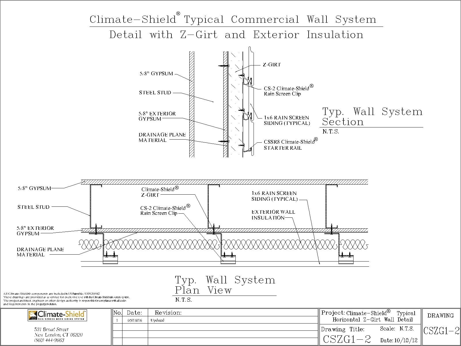 CSZG1 2_Climate Shield Z Girt Typical Wall Assembly