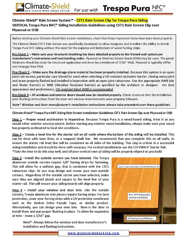 Climate-Shield - Trespa Pura Vertical Installation Guidelines Over Plywood_Page_1