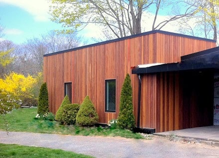Cumaru hardwood siding vertical rainscreen installation