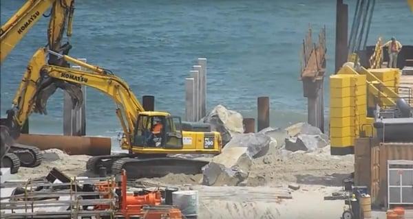 Construction on Atlantic City boardwalk