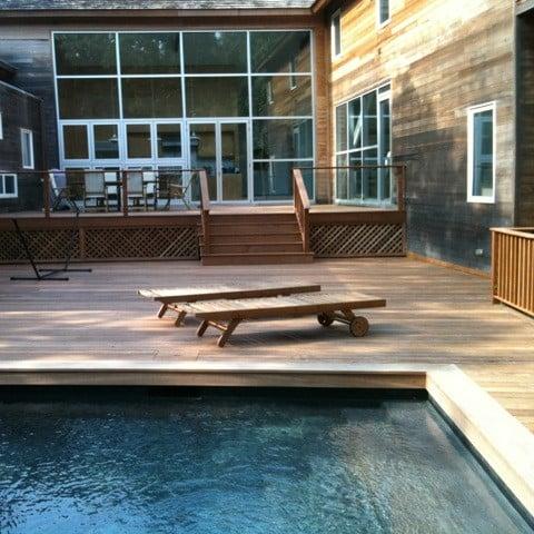 Cumaru Montauk Pool and Lounge chairs