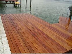 mataverde cumaru decking makes a beautiful dock