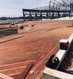 FSC Machiche boardwalk under construction in Oakland, CA