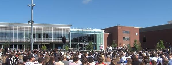 Friar Development Center opening ceremonies at Providence College