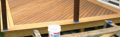 Garapa deck boards were installed for a picture frame on the deck - Copy