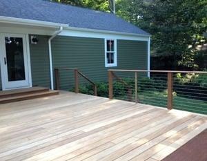 Garapa hardwood backyard deck-1