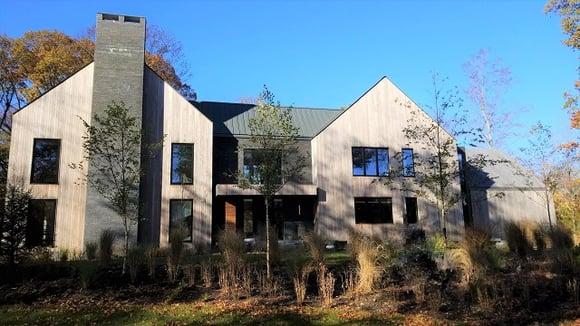 Garapa siding architectural rainsceen cladding design in New England