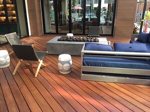 Ipe 5qtr x 6  decking with Eurotec Aluminum framing and adjustable pedestals-1