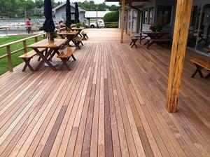 Ipe decking at Norwalk Yacht Club
