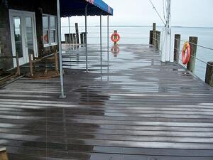 Ipe decking at yacht club in New York