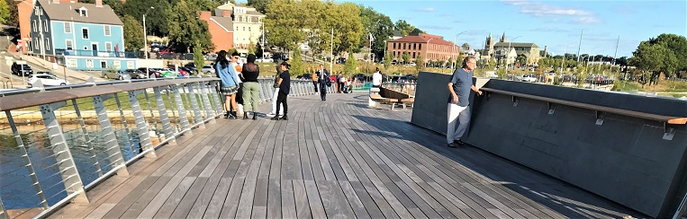 Ipe decking on bridge in Rhode Island