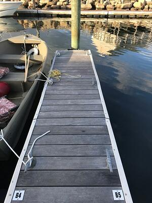 Ipe decking on floats at private marina