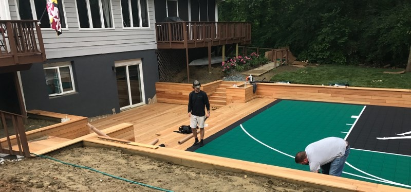 Have You Ever Seen Ipe Decking at a Basketball Court?