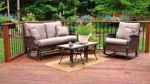 Ipe hardwood backyard deck is ideal for bird watching