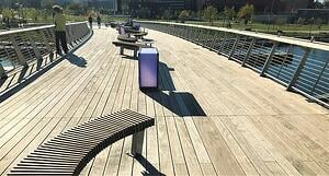 Ipe hardwood decking railing benches tables and lighting