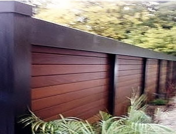Ipe rain screen wall