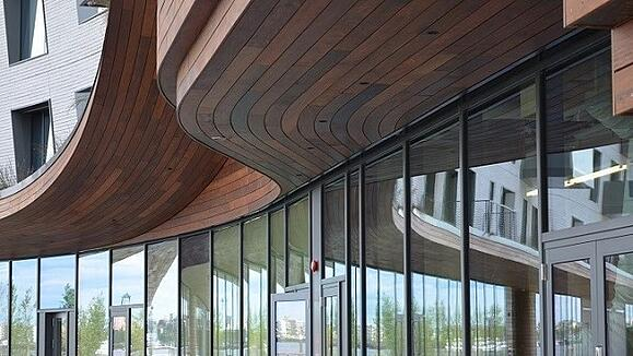 Ipe rainscreen soffits and fascia curve - like magic