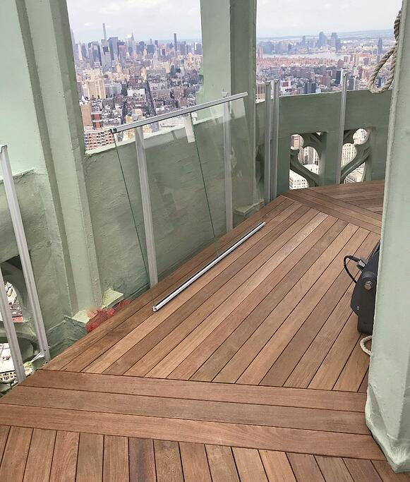 Ipe rooftop deck installed with Eurotec deck system-1