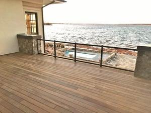 Ipe rooftop deck on South Carolina coast