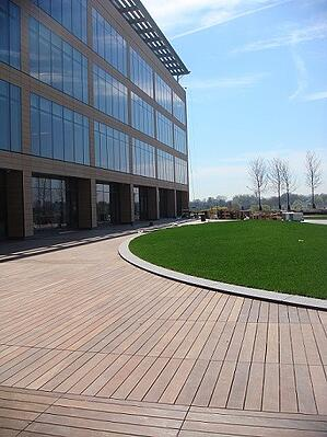 Ipe Decking on commercial project in New England