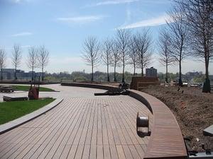 Ipe hardwood decking boardwalk promenade