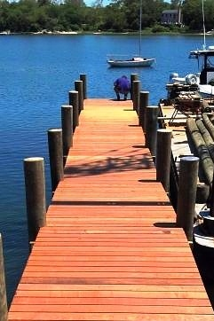 Ipe decking on dock at Fisher's Island, NY