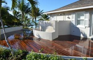 Mataverde Ipe hardwood deck in the Bahamas
