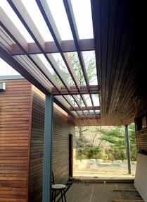mataverde ipe pergola and rain screen