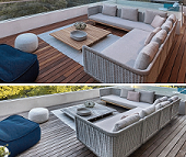Machiche decking new and weathered California