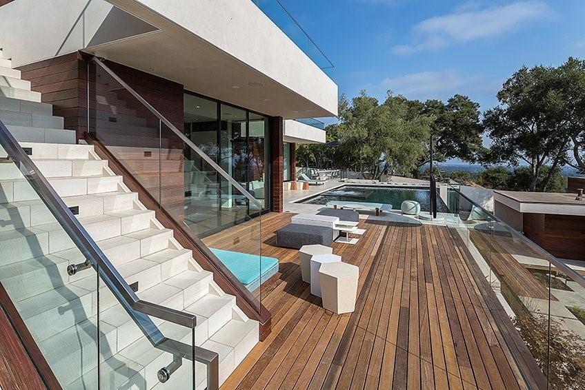 Machiche hardwood deck poolside-2