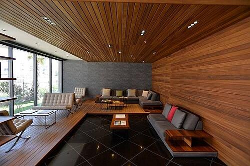 Mataverde thermowood siding can be used indoors and outdoors