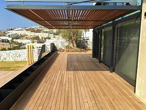 Mataverde thermowood decking and sun shade-2