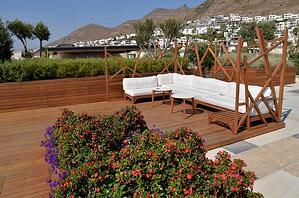Mataverde thermowood decking at hotel