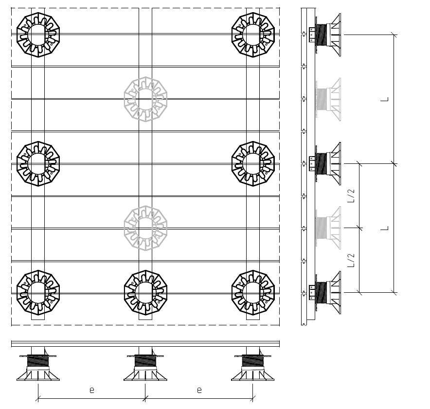Mataverde_Eurotec_Aluminum_System_Profile_and_Pedestal_layout