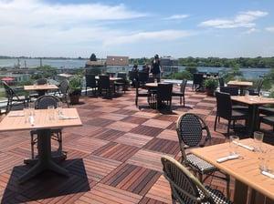Matunuck Oyster Bar Ipe Eurotec rooftop deck
