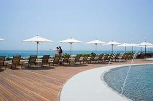 Ipe deck at pool - Ocean House Rhode Island
