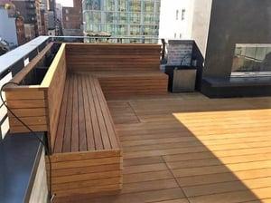 Organic Gardener NYC - Garapa deck on rooftop-1