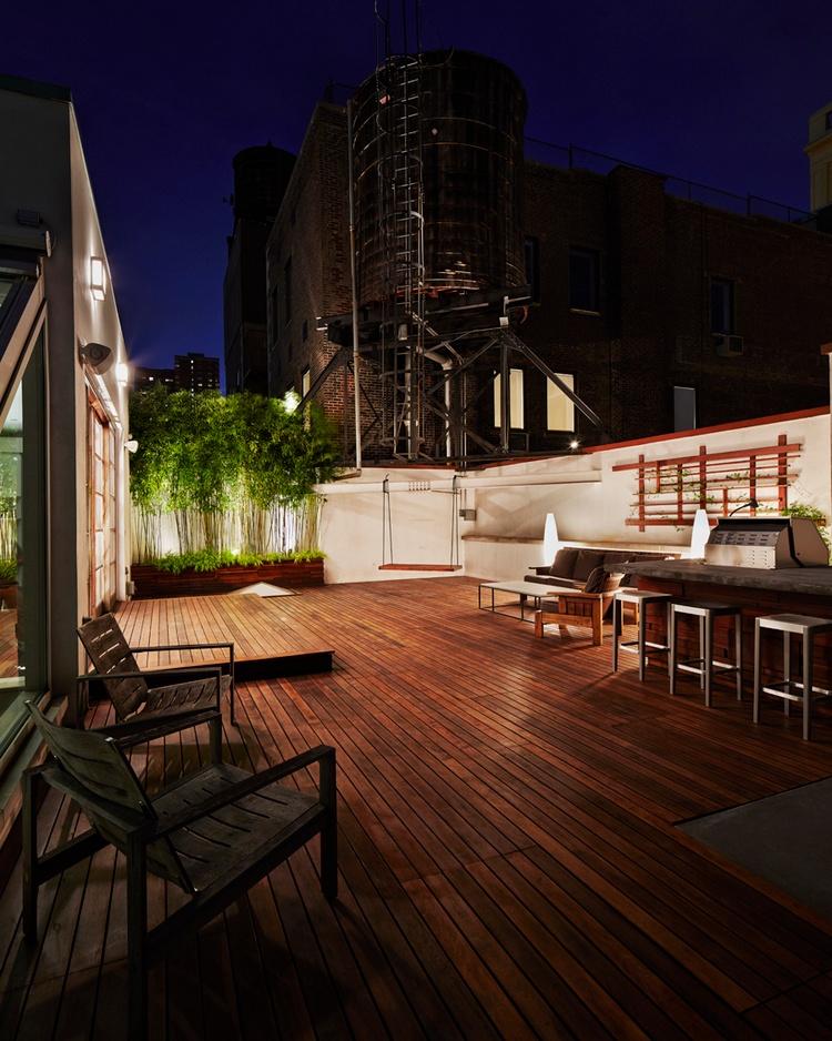 Ipe rooftop deck organic gardener