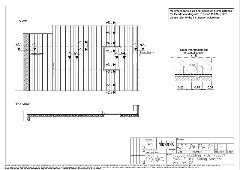 PURA Flush siding Vert O1 -Typical Vertical View