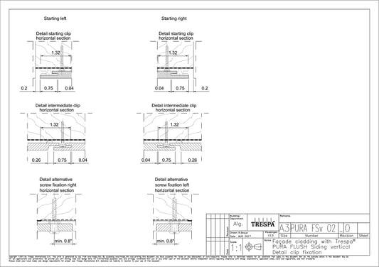 PURA Flush siding vert O2 Vertical Clip Fastening Details