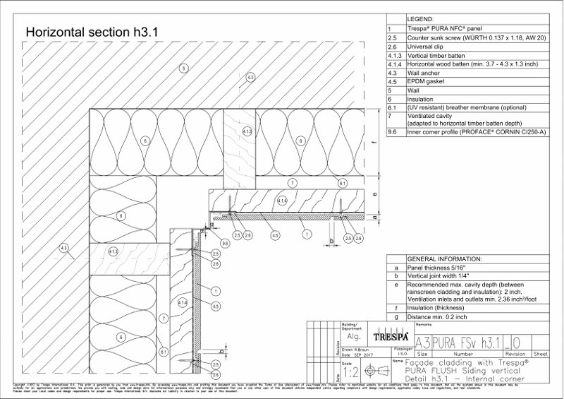 PURA Flush siding vert h3_1 Vertical Inside Corner Detail with Trim