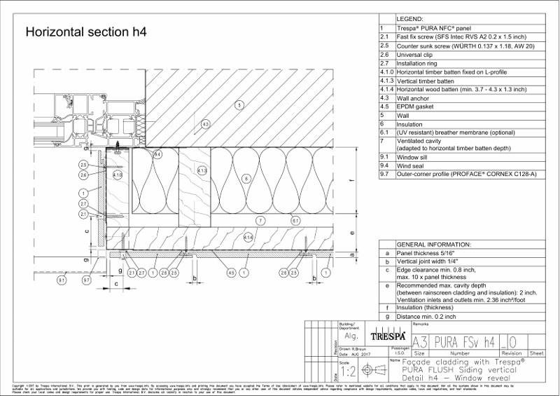 PURA Flush siding vert h4_0 Vertical Window Embrasure Detail