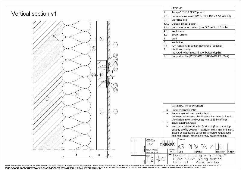 PURA Flush siding vert v1_0 Vertical Panel Overlap Detail