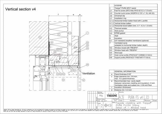 PURA Flush siding vert v4_0 Vertical Window head-Detail