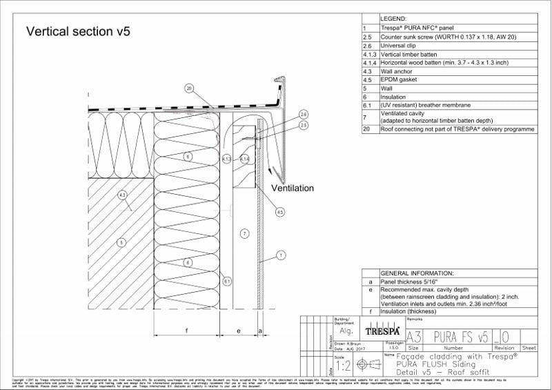 PURA Flush siding vert v5_0 Vertical Top of Wall Detail