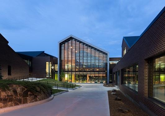 Parkland College climate-shield rain screen system