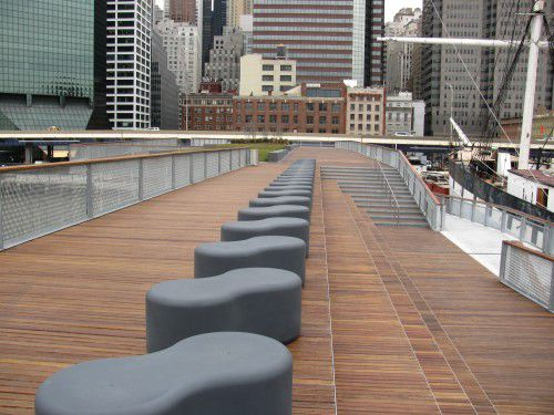 Pier 15 cumaru decking, ramps, benches, railings and stairs-3