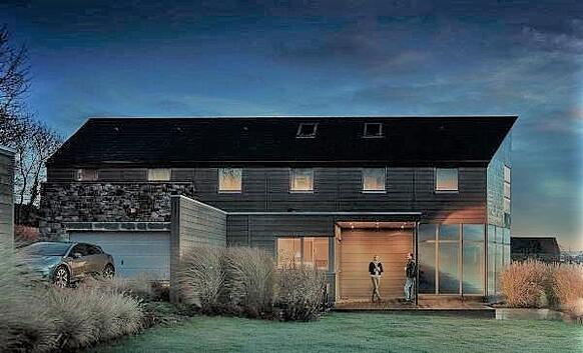 Pura NFC by Trespa on a barn inspired home-2