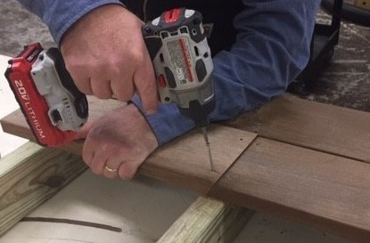 Scarf Joint decking installation technique